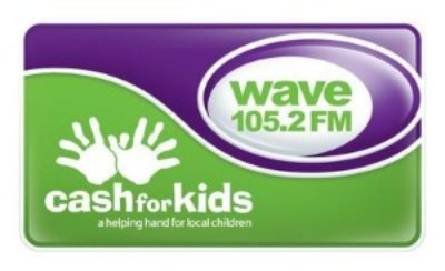 JANINE JOINS WAVE 105 RADIO FOR CASH FOR KIDS